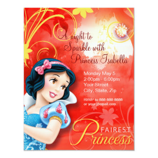"Snow White Birthday Invitation 4.25"" X 5.5"" Invitation Card"