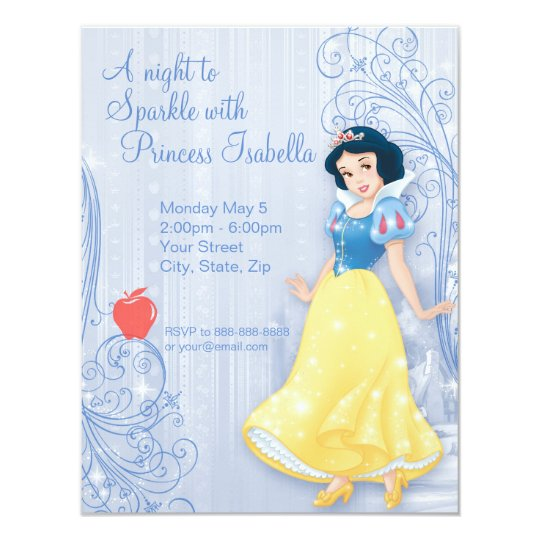 Snow White Birthday Invitation Zazzlecom