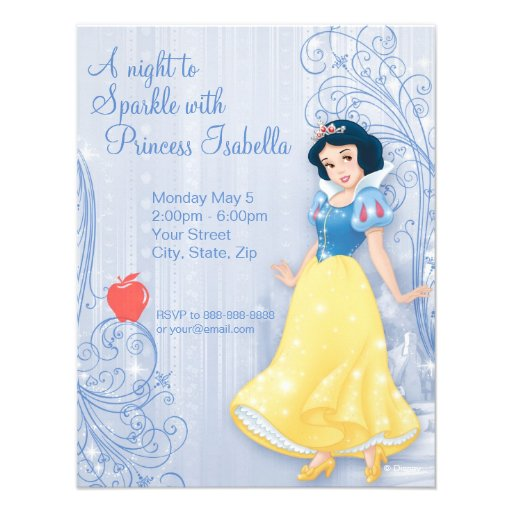 Snow White Birthday Invitation Custom Invites