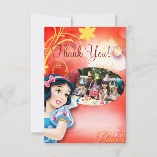 Snow White Birthday Thank You Cards Zazzle Com