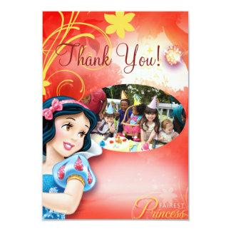 "Snow White Birthday Thank You Cards 3.5"" X 5"" Invitation Card"