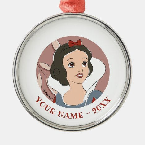 Snow White Captured Moment Metal Ornament