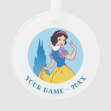 Snow White & Castle Graphic Ornament