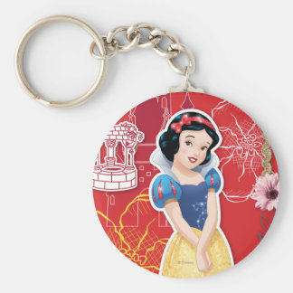 Snow White - Cheerful and Caring Basic Round Button Keychain