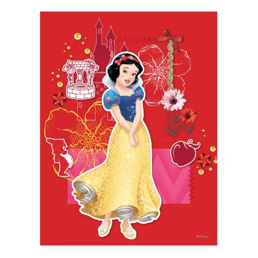 Snow White - Cheerful and Caring Post Card