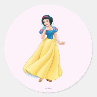 Snow White Classic Round Sticker