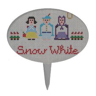 Snow White Cross Stitch Pattern Cake Topper