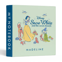 Snow White & Dopey with Friends 3 Ring Binder