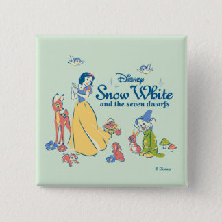 Snow White & Dopey with Friends Button