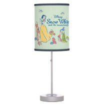 Snow White & Dopey with Friends Table Lamp