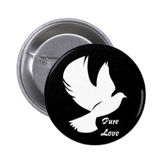 Snow White Dove - Button