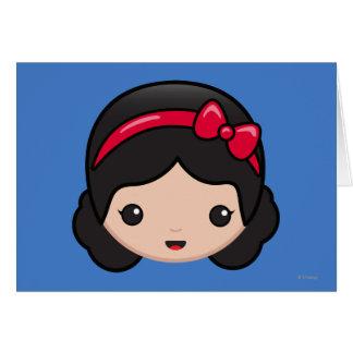 Snow White Emoji Card