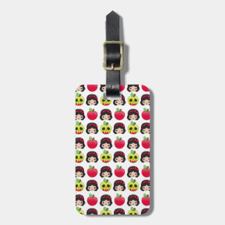 Snow White Emoji Land Pattern Luggage Tag