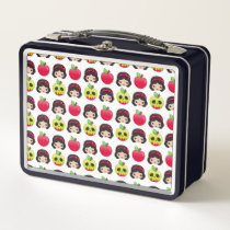 Snow White Emoji Land Pattern Metal Lunch Box