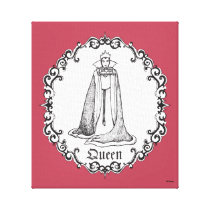 Snow White | Evil Queen - Vintage Villain Canvas Print