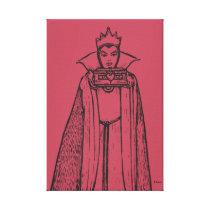 Snow White   Evil Queen - Vintage Villain Canvas Print