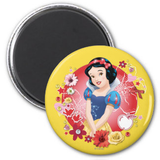Snow White - Fairest In The Land 2 Inch Round Magnet
