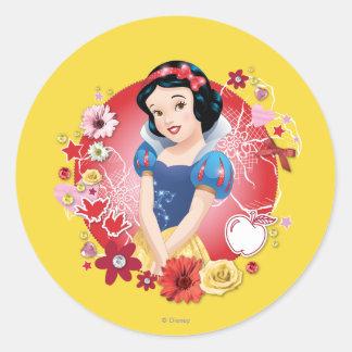 Snow White - Fairest In The Land Round Stickers