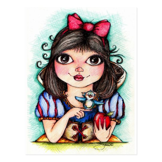 Snow White Fairy Tale Fun Postcard