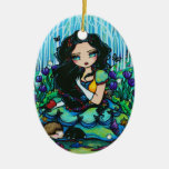 Snow White Forest Fairy Animal Art by Hannah Lynn Christmas Tree Ornament