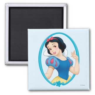 Snow White Frame 2 Inch Square Magnet