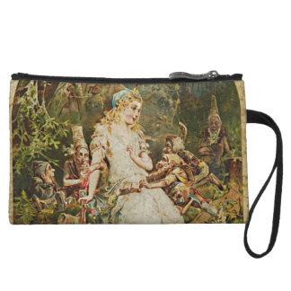 Snow White German Fairy Tale Illustration Wristlet Clutches