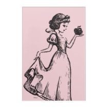 Snow White   Holding Apple - Elegant Sketch Acrylic Print