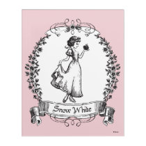Snow White | Holding Apple - Elegant Sketch Acrylic Wall Art