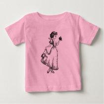Snow White   Holding Apple - Elegant Sketch Baby T-Shirt