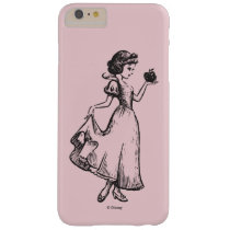 Snow White | Holding Apple - Elegant Sketch Barely There iPhone 6 Plus Case