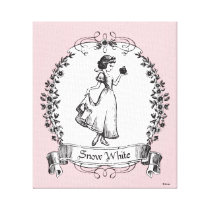 Snow White | Holding Apple - Elegant Sketch Canvas Print