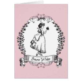 Snow White | Holding Apple - Elegant Sketch Card
