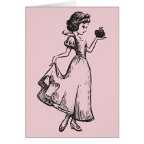 Snow White   Holding Apple - Elegant Sketch Card