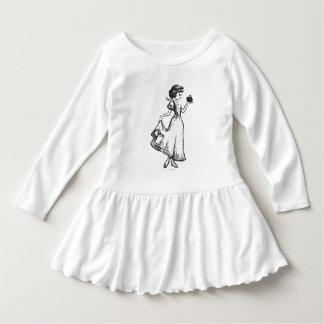 Snow White | Holding Apple - Elegant Sketch Dress