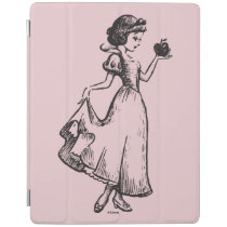 Snow White | Holding Apple - Elegant Sketch iPad Smart Cover