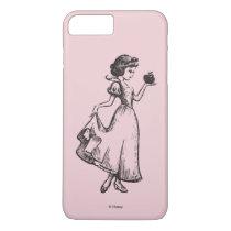 Snow White   Holding Apple - Elegant Sketch iPhone 8 Plus/7 Plus Case