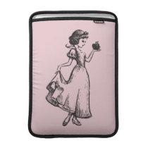 Snow White   Holding Apple - Elegant Sketch MacBook Air Sleeve