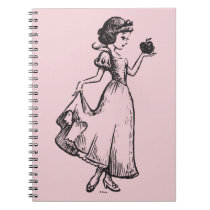 Snow White | Holding Apple - Elegant Sketch Notebook