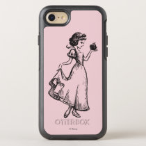 Snow White | Holding Apple - Elegant Sketch OtterBox Symmetry iPhone 8/7 Case