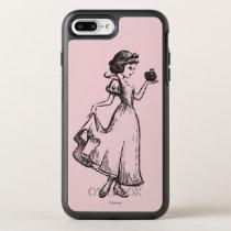 Snow White   Holding Apple - Elegant Sketch OtterBox Symmetry iPhone 8 Plus/7 Plus Case