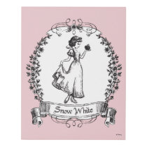 Snow White | Holding Apple - Elegant Sketch Panel Wall Art