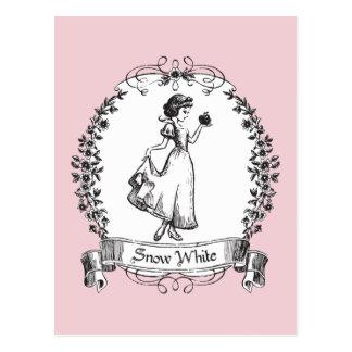 Snow White | Holding Apple - Elegant Sketch Postcard