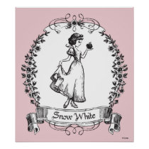 Snow White | Holding Apple - Elegant Sketch Poster