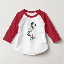 Snow White   Holding Apple - Elegant Sketch T-Shirt