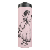 Snow White   Holding Apple - Elegant Sketch Thermal Tumbler