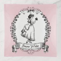 Snow White | Holding Apple - Elegant Sketch Trinket Trays