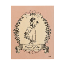 Snow White | Holding Apple - Elegant Sketch Wood Print