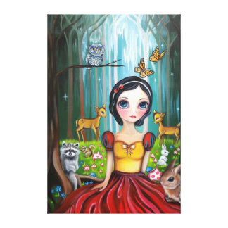 """""""Snow White in the Enchanted Forest"""" Canvas Print"""