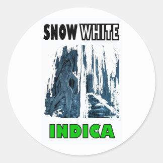 SNOW WHITE INDICA ROUND STICKER