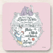 Snow White   Just One Bite Beverage Coaster